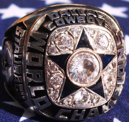 Salesman sample Cowboys Super Bowl ring 1971