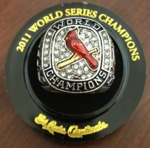 2011 St. Louis Cardinals World Series ring