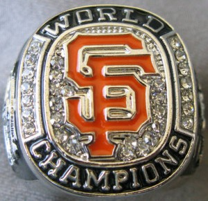 Giants 2012 World Series replica ring