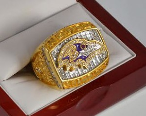 Baltimore Ravens Super Bowl ring replica