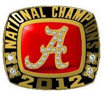 2012 Alabama National Championship Ring