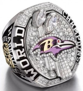 2012 Super Bowl ring Ravens replica