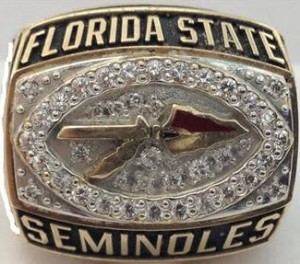1993 Orange Bowl ring Florida State