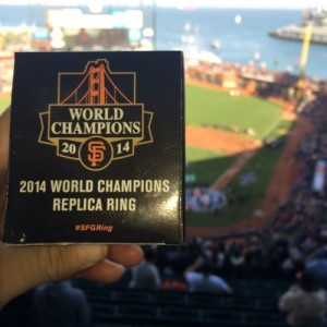 San Francisco Giants replica World Series ring 2014