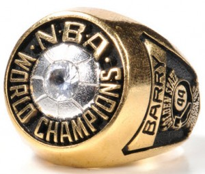 Warriors championship ring 1975 salesmans sample Rick Barry