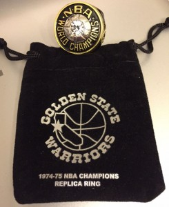 Golden State Warriors championship replica ring